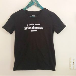 A Little More Kindness Please Black Graphic Tee